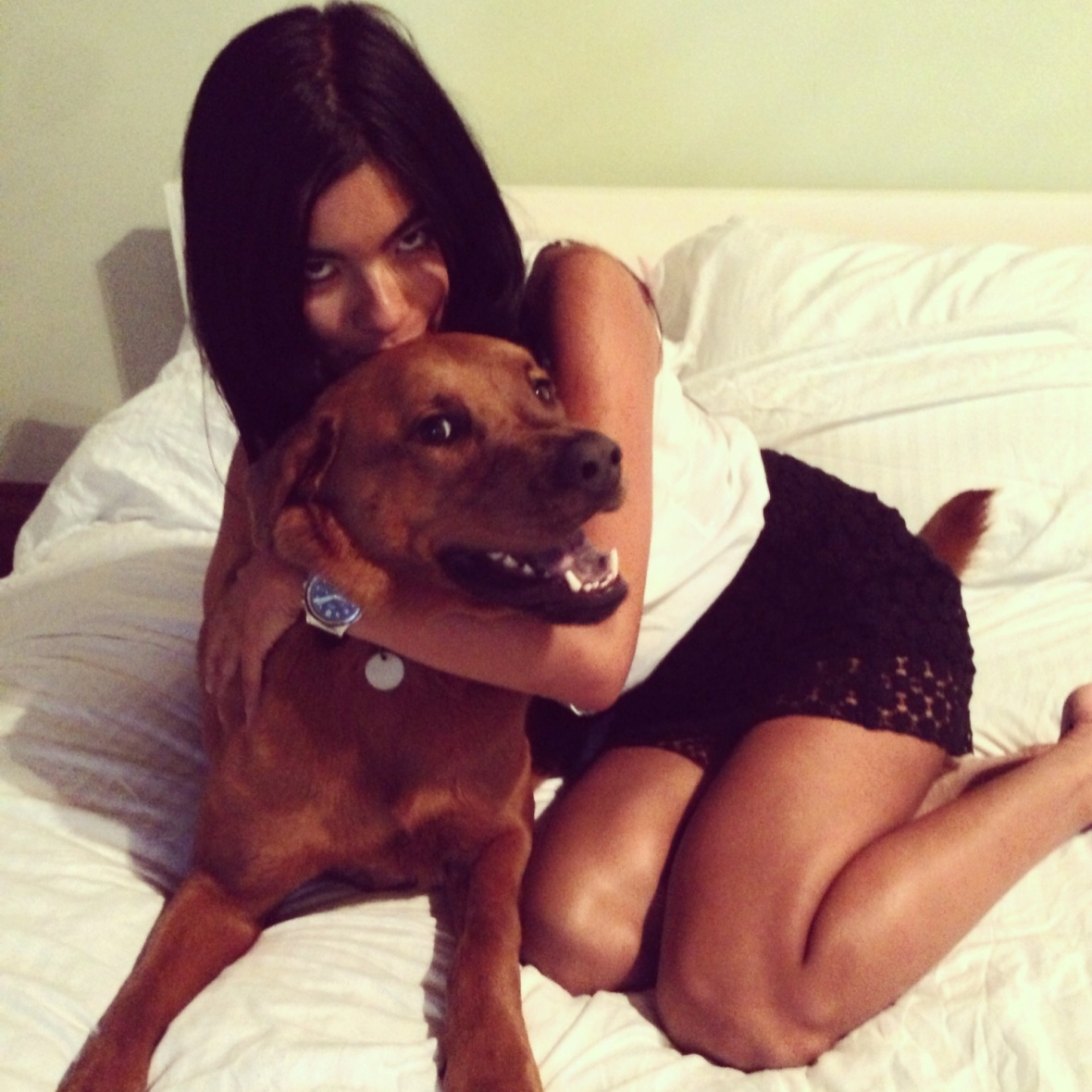 Jack and his owner Tania