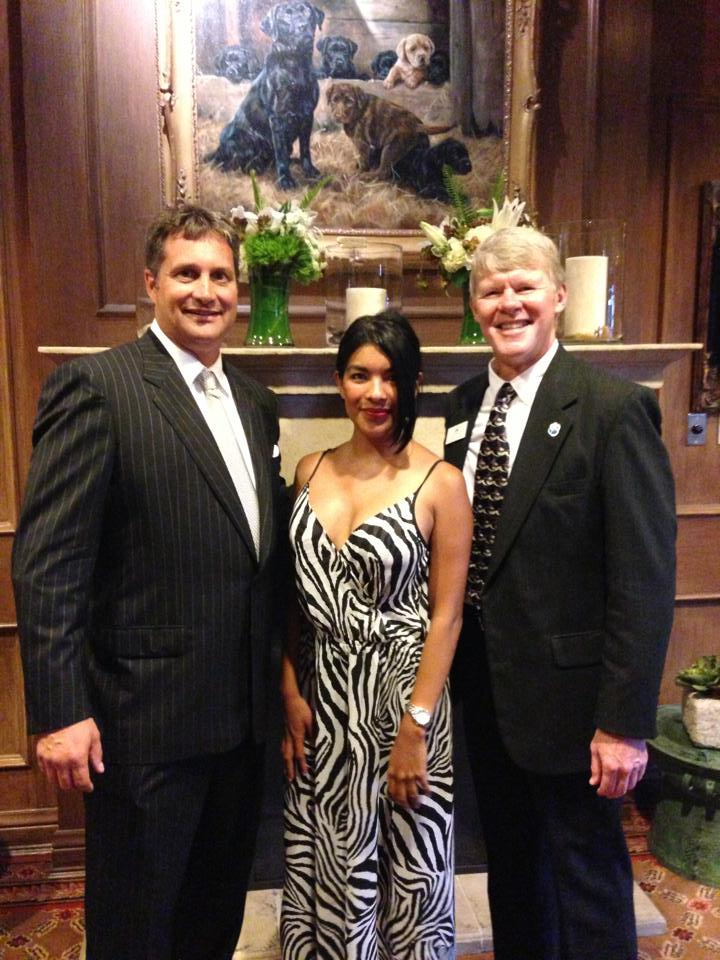 Barking Beast with CEO and President of Rancho Coastal Humane Society Jim Silveira on left- and PR Marketing Director of RCH and News Broadcast Personality John Vanzante