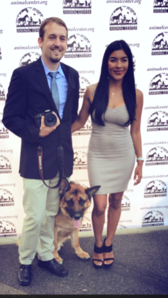 Barking Beast Creator Tania Milberg with CEO and President of San Diego Pets Magazine Casey Dean at the Helen Woodward Gala 2013
