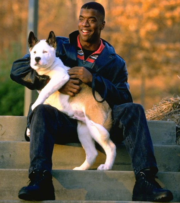 Kordell Stewart and his Husky breed