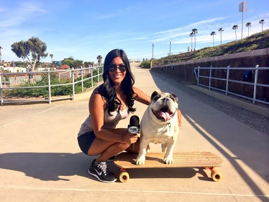 Dozer San Diego's skateboarding dog