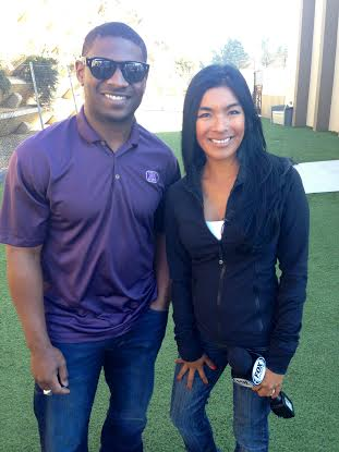 Tania Milberg and LaDainian Tomlinson at Snug Pet Resort