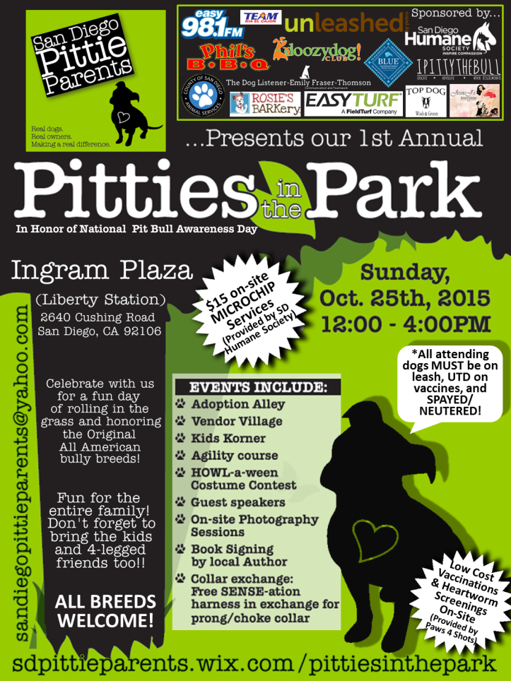 Pitties in the Park FLYER 10-25-15